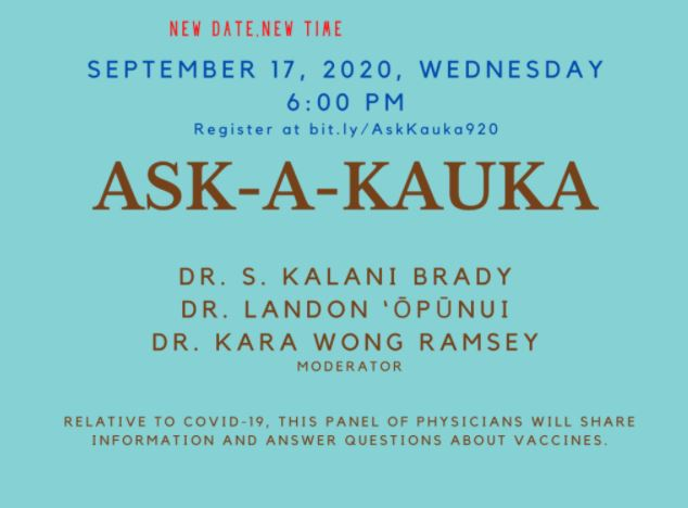 ASK-A-KAUKA – A conversation about vaccines and COVID-19