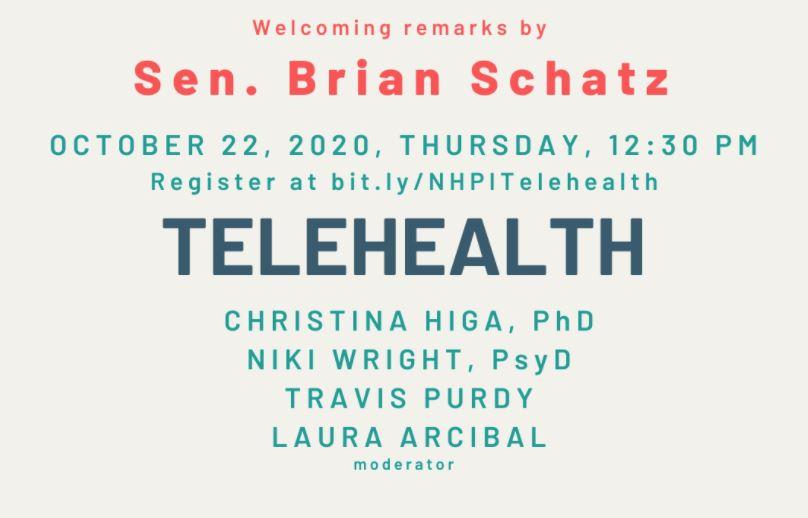 Sen. Schatz opens webinar on Telehealth